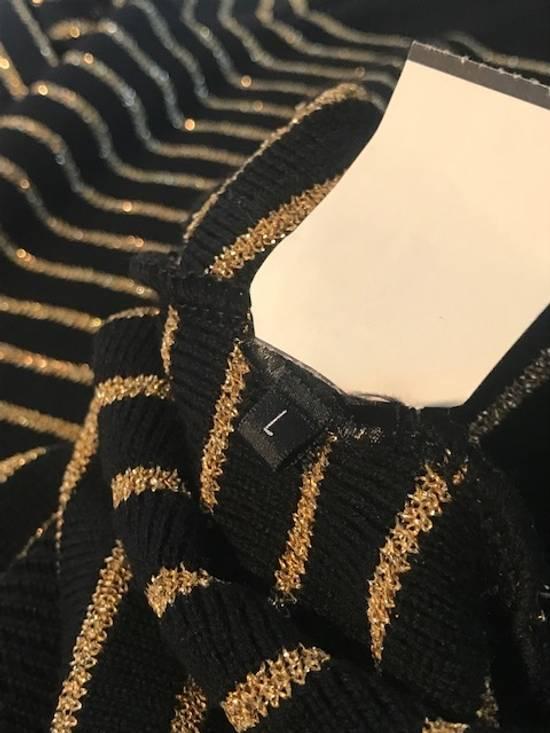 Balmain Balmain Black Gold Striped Wool Sweater Size US L / EU 52-54 / 3 - 7