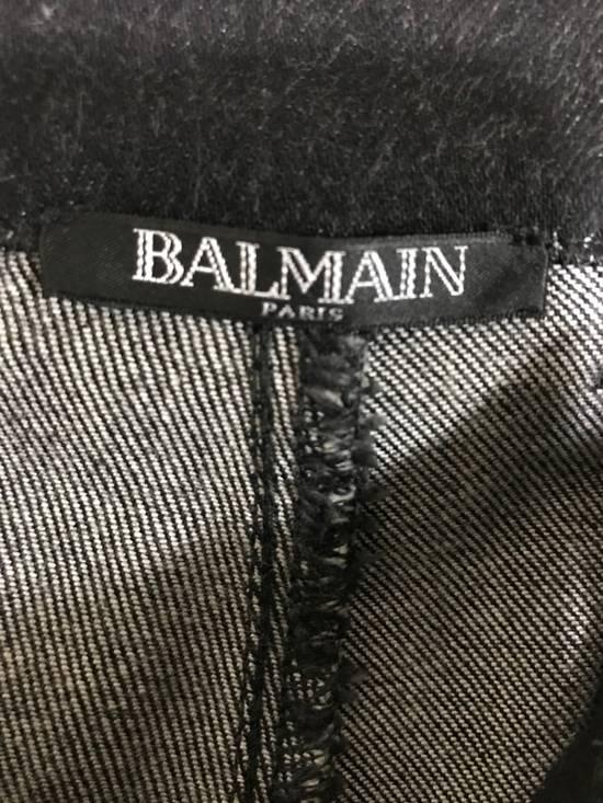 Balmain Skinny Fit Coated Denim Size US 29 - 4