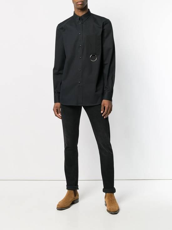 Givenchy Black Metal Ring Pocket Shirt Size US L / EU 52-54 / 3 - 3