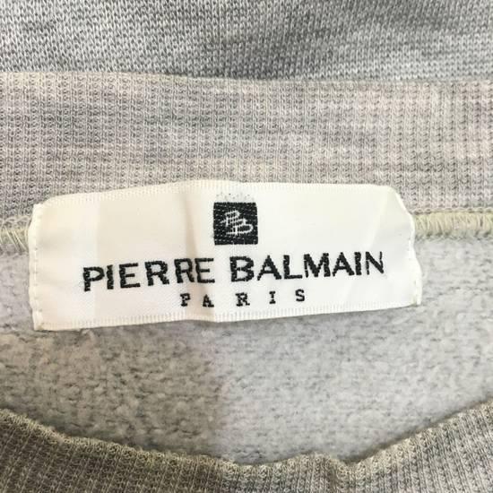 Balmain Vtg PIERRE BALMAIN PARIS Big Logo Made In JAPAN Gray MEDIUM Sweatshirt Jumper Size US M / EU 48-50 / 2 - 5