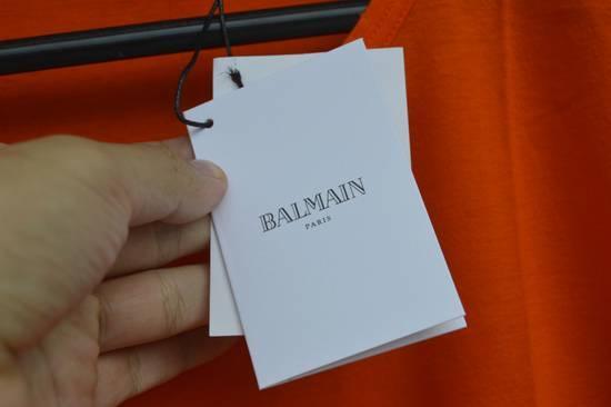 Balmain Orange Distressed T-shirt Size US M / EU 48-50 / 2 - 3
