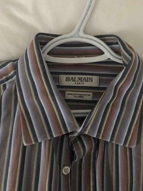 Balmain STRIPPED OVERSIZED BALMAIN BUTTON UP Size US XL / EU 56 / 4