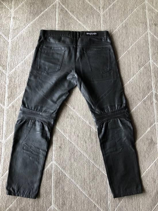 Balmain Biker Jeans Waxed Leather Knee Size US 30 / EU 46 - 6
