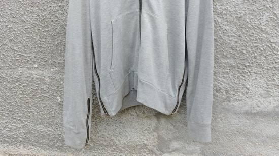 Balmain FW10 Balmain Grey Destroyed Distressed Decarnin Era Men's Hoodie size L (XL) Size US L / EU 52-54 / 3 - 4