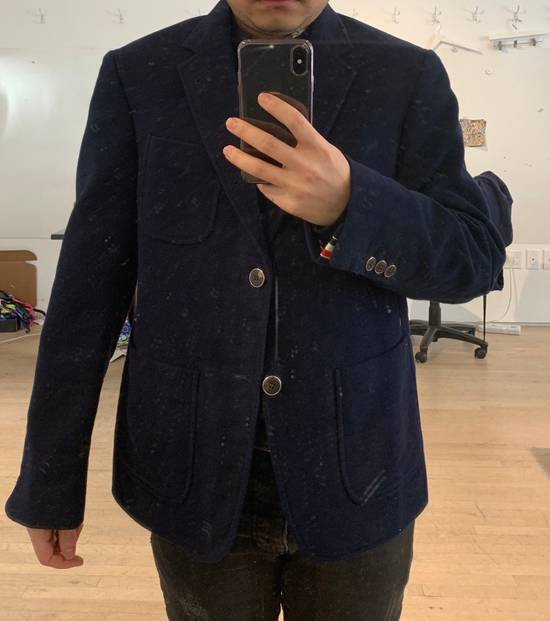 Thom Browne Navy Men's Velvet Two-button Blazer Size 36S - 9