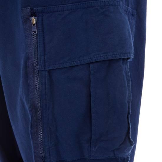 """Yohji Yamamoto YOHJI YAMAMOTO blue cotton dropped crotch exteme wide leg cargo pants JP3 33"""" L Size US 33 - 7"""