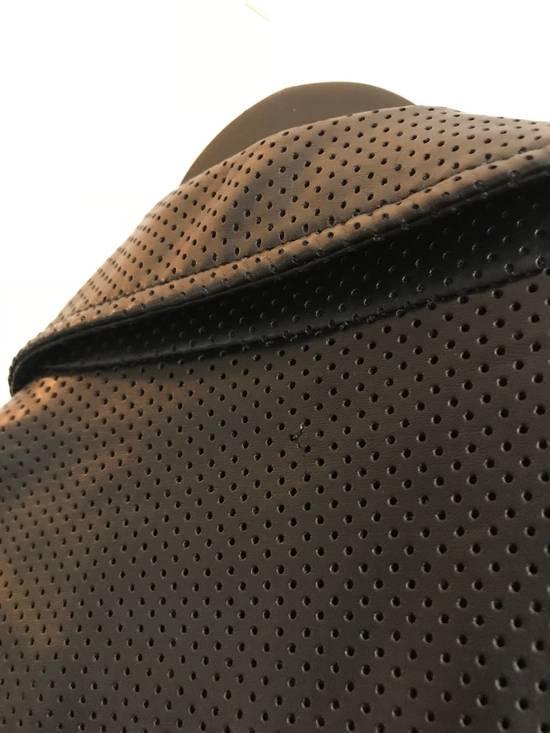 Balmain $1200 Last Drop Before Delete Perforated Eco Leather Vest Black Size US M / EU 48-50 / 2 - 10