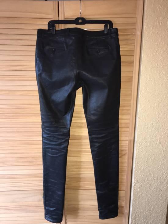 Balmain Coated Skinny Biker Jeans Size US 33 - 2