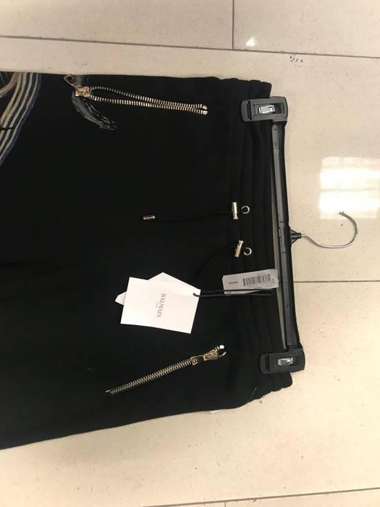 Balmain Rock Print Black Sweat Pants Size US 32 / EU 48 - 4