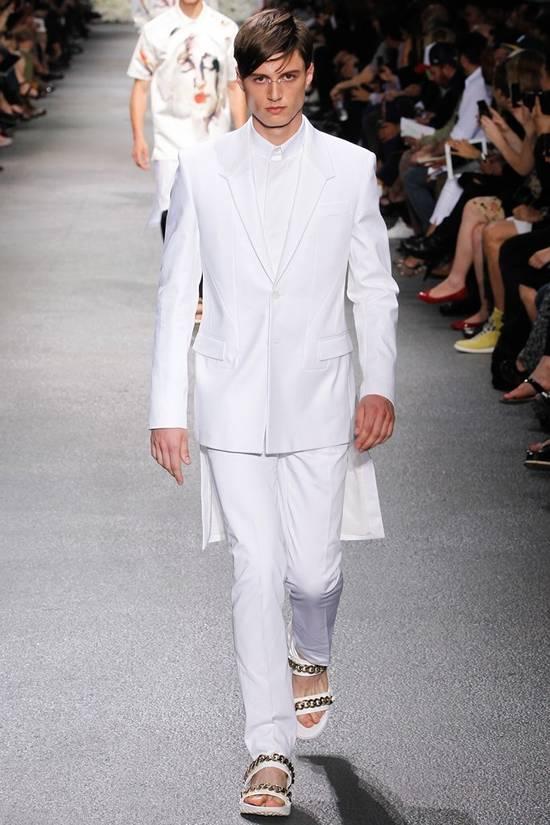 Givenchy SS13 WHITE COLLAR DETAILED SHIRT Size US XS / EU 42 / 0 - 2