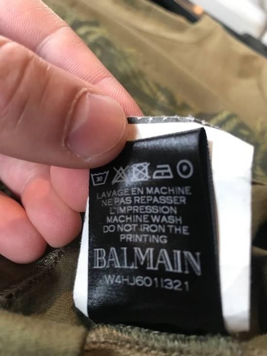 Balmain Balmain Khaki American Eagle Crest T-Shirt Size US L / EU 52-54 / 3 - 6