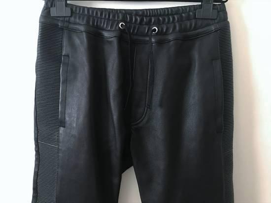 Balmain LAST DROP! Size M Fits S - Slim Fit Leather Ribbed Biker Style Sweatpants - $3100 Retail Size US 30 / EU 46 - 6