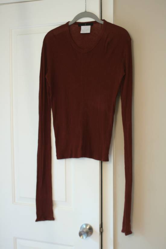 Julius FW08 Blood Red Cotton/Cashmere Rib L/S Size US S / EU 44-46 / 1 - 1