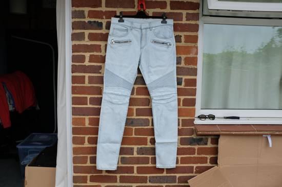Balmain Light Blue Biker Jeans Size US 34 / EU 50