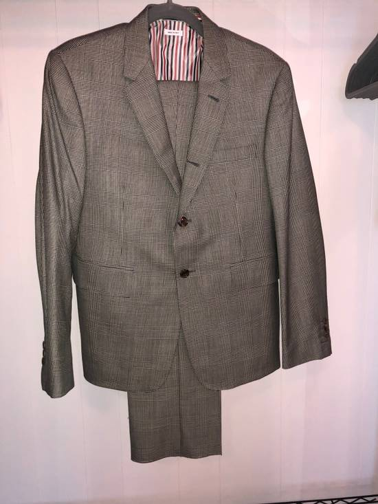 Thom Browne Classic Suit In Prince Of Whales Super 120's Wool Size 2 Size 40R