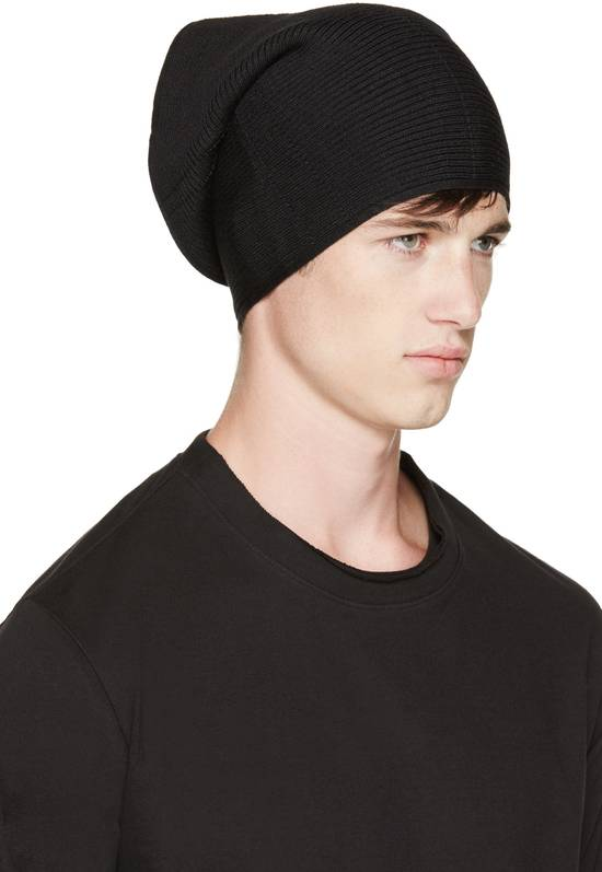 Julius Julius Black Knit Tube Beanie Size ONE SIZE - 6