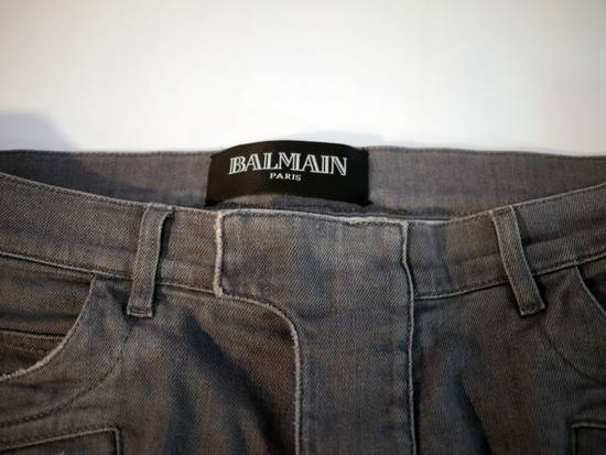 Balmain Balmain Biker Denim Grey Size US 35 - 3