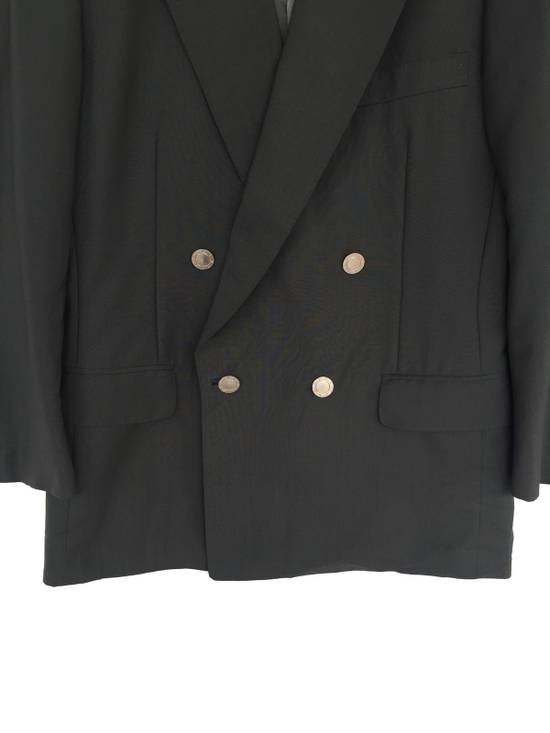 Givenchy 80s Green Wool Double Breast Blazer Coat Size 38S - 2