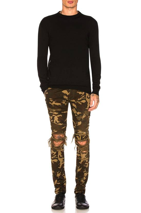 Balmain Size 36 - Heavily Distressed Camo Biker Jeans - FW17 - RARE Size US 36 / EU 52 - 22