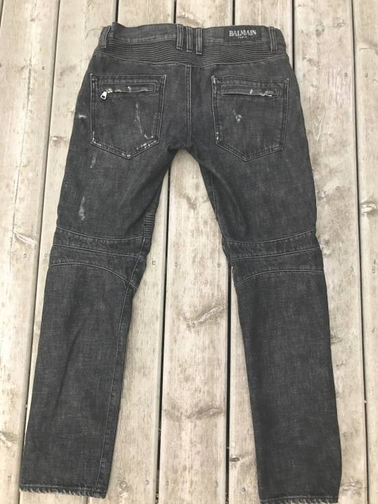 Balmain SS/11 Decarnin Era Washed Ripped Distressed Black Biker Jeans Size US 32 / EU 48 - 1