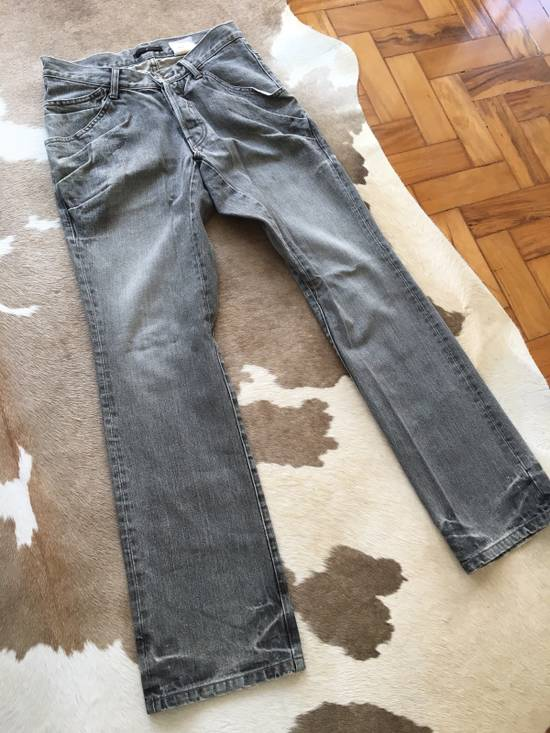 Julius Japan made rugged grey Slouchy distressed Japanese denim jeans Size US 29 - 1