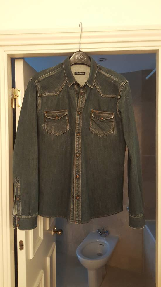 Balmain Decarnin-era dark denim shirt Size US M / EU 48-50 / 2