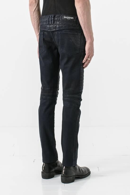 Balmain waxed slim biker jean Size US 31 - 2