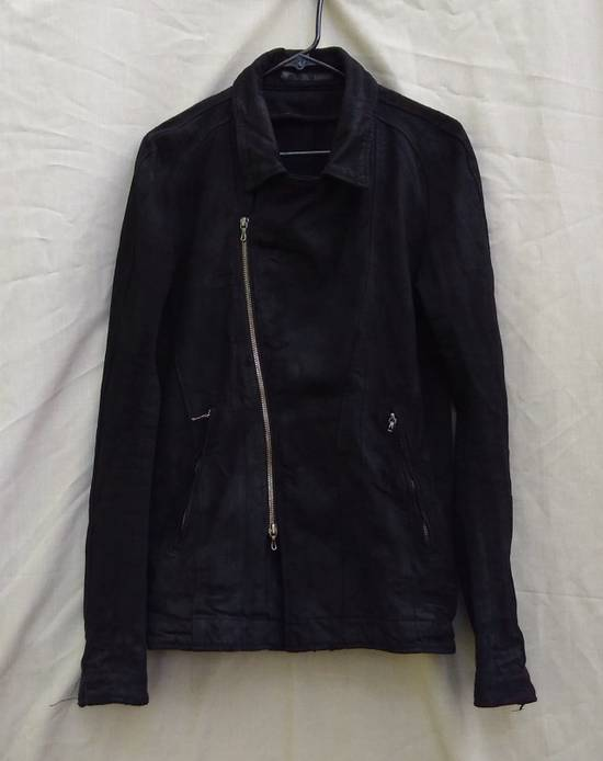 Julius Black Denim Moto Jacket f/w10 Size US L / EU 52-54 / 3