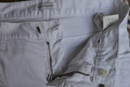 Balmain white biker pant Size US 32 / EU 48 - 7