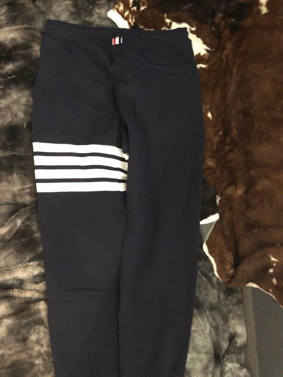 Thom Browne Navy Engineered 4 Bar Stripe Sweatpants Size US 32 / EU 48 - 4