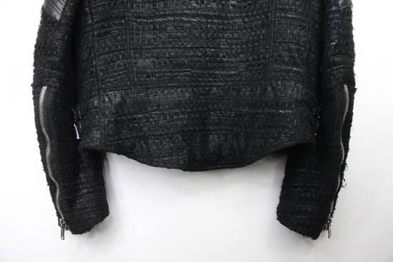 Givenchy $8k AW13 Givenchy Black Tweed & Leather Biker Jacket Size 48 Size US M / EU 48-50 / 2 - 10