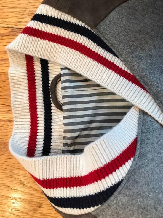 Thom Browne Cashmere & Suede Varsity Jacket Sz 4 Size US L / EU 52-54 / 3 - 7