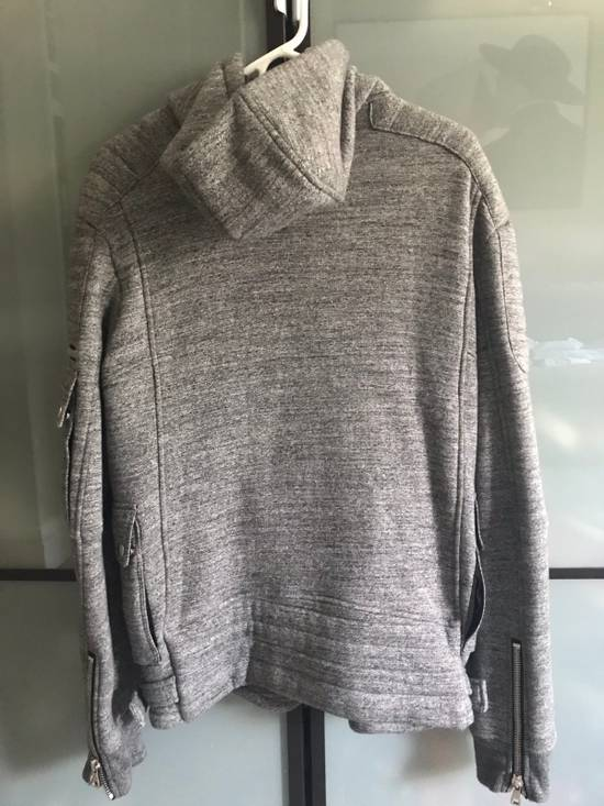 Balmain Heather Grey Biker Hoodie Size US M / EU 48-50 / 2 - 1