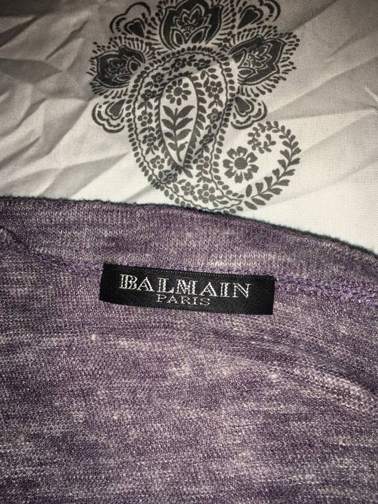 Balmain Balmain Paris Lavender Crewneck Linen Long Sleeve Shirt Size US L / EU 52-54 / 3 - 7