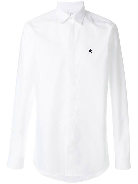 Givenchy White Chest Star Shirt Size US L / EU 52-54 / 3 - 1