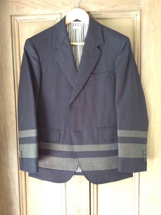 Thom Browne Paneled Chapel Jacket- Flannel Size US S / EU 44-46 / 1