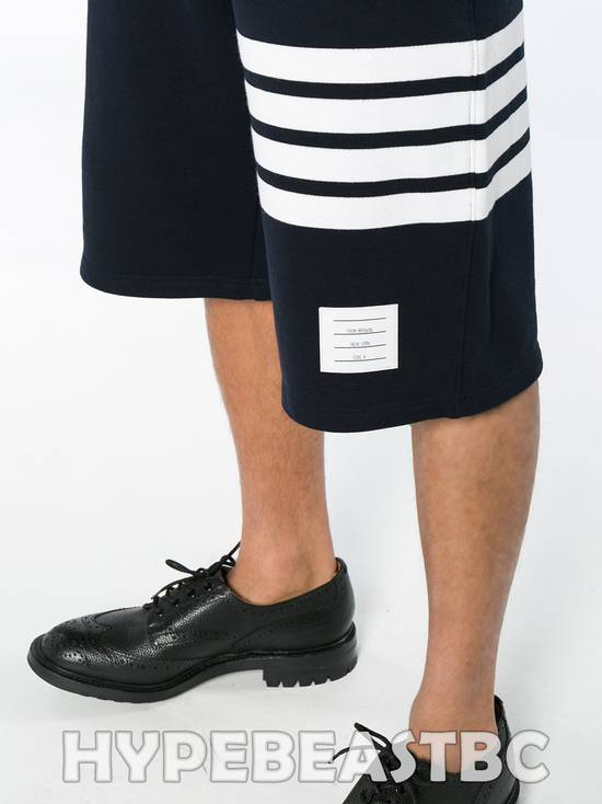 Thom Browne THOM BROWNE Classic Sweat Shorts 4-Bar Stripe Logo, TB Size 2, Navy, NWT, NO DROP ! Size US 32 / EU 48 - 3