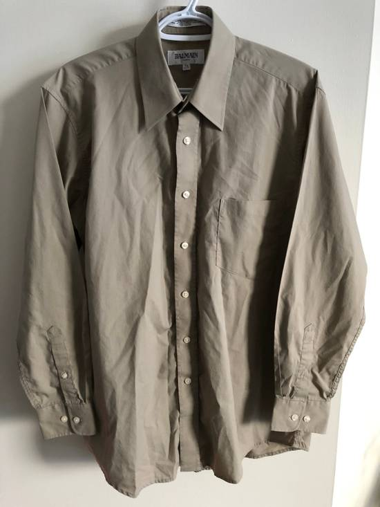 Balmain khaki button up Size US M / EU 48-50 / 2