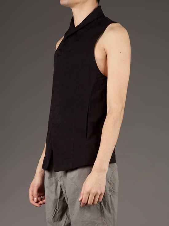 Julius Black Poplin Vest ss13 Size US M / EU 48-50 / 2 - 6