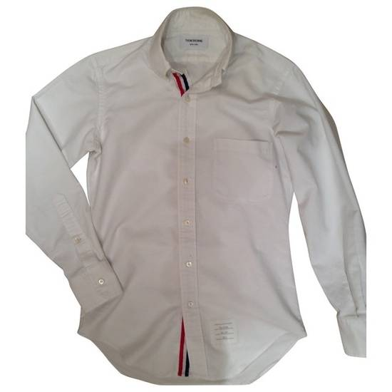 Thom Browne White Oxford With Grosgrain Placket Size US S / EU 44-46 / 1