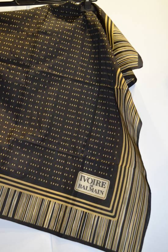 Balmain Balmain Black and Gold Scarf Pierre Ivoire De Balmain Luxury Rare Piece Size ONE SIZE - 2