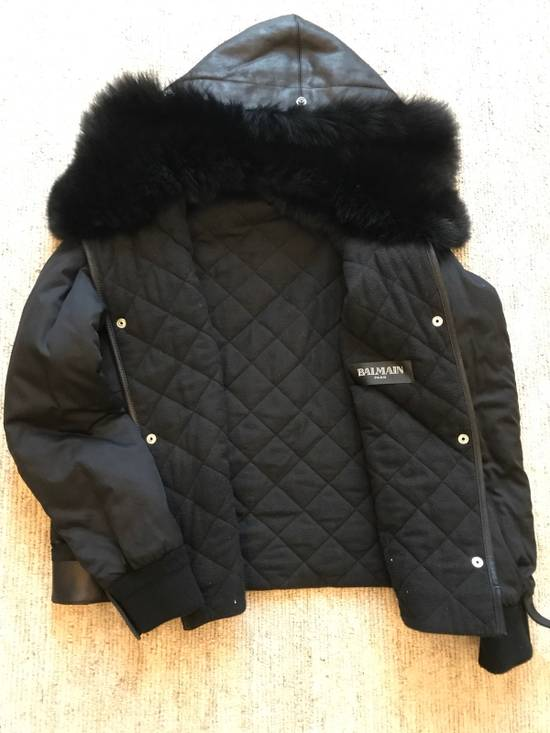 Balmain Leather Parka With Fur With Detachable Jacket And fur Size US M / EU 48-50 / 2 - 12