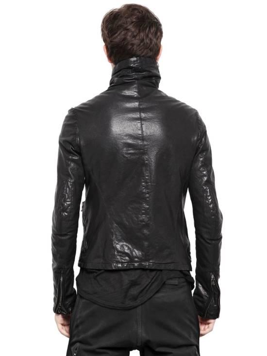 Julius JULIUS _7 ma high neck black lamb biker jacket slim fit Japan Size US S / EU 44-46 / 1 - 3