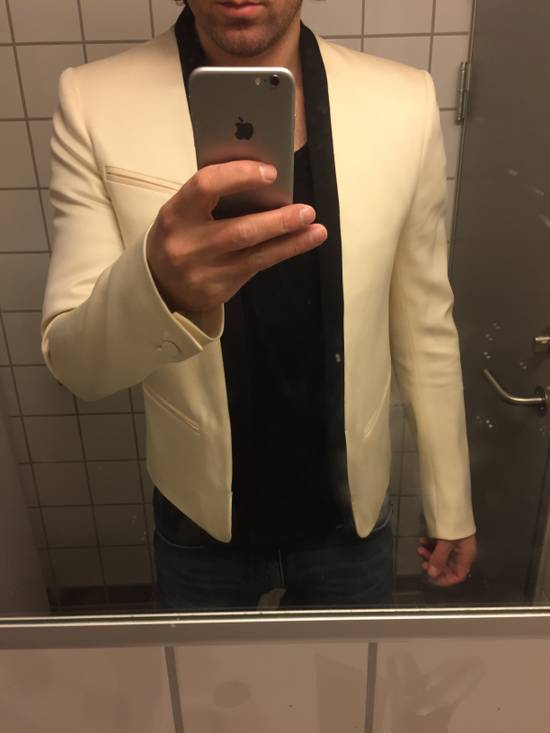 Balmain White Tuxedo jacket Size 48S - 9