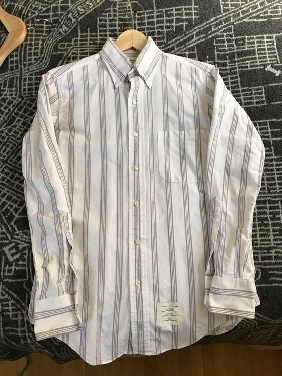 Thom Browne White Burgandy Stripe Oxford Size 1 Size US S / EU 44-46 / 1 - 4