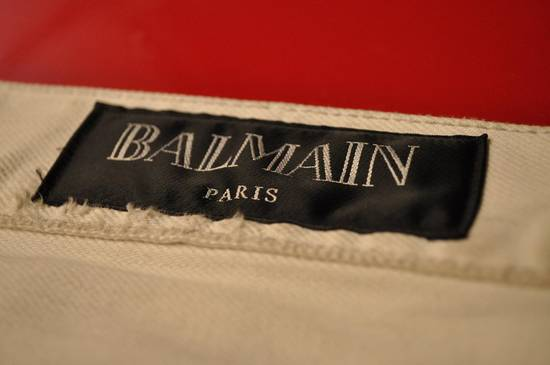 Balmain distressed white 16cm denim Size US 30 / EU 46 - 5