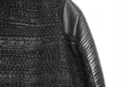 Givenchy $8k AW13 Givenchy Black Tweed & Leather Biker Jacket Size 48 Size US M / EU 48-50 / 2 - 8