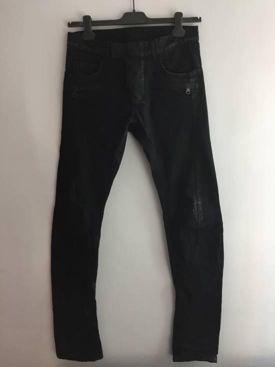 Balmain Distress Waxed Jeans Size US 28 / EU 44 - 11