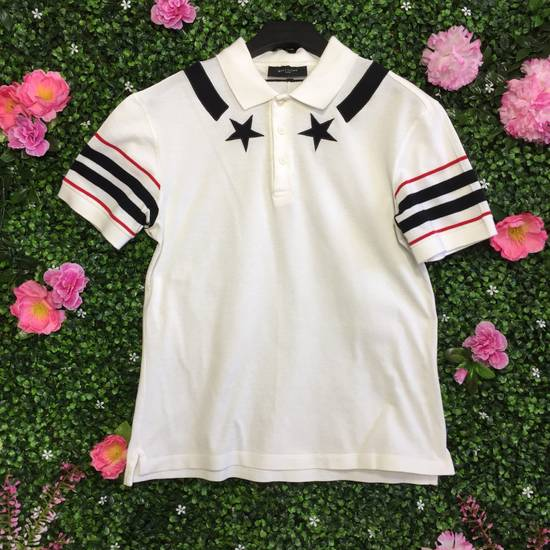 Givenchy Star Striped White Polo Size US M / EU 48-50 / 2