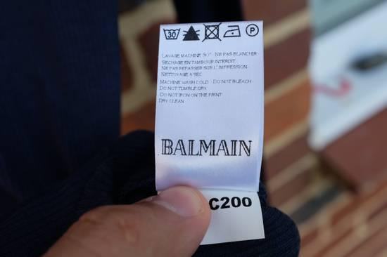 Balmain Blue Ribbed Knit Roll Neck T-shirt Size US M / EU 48-50 / 2 - 6